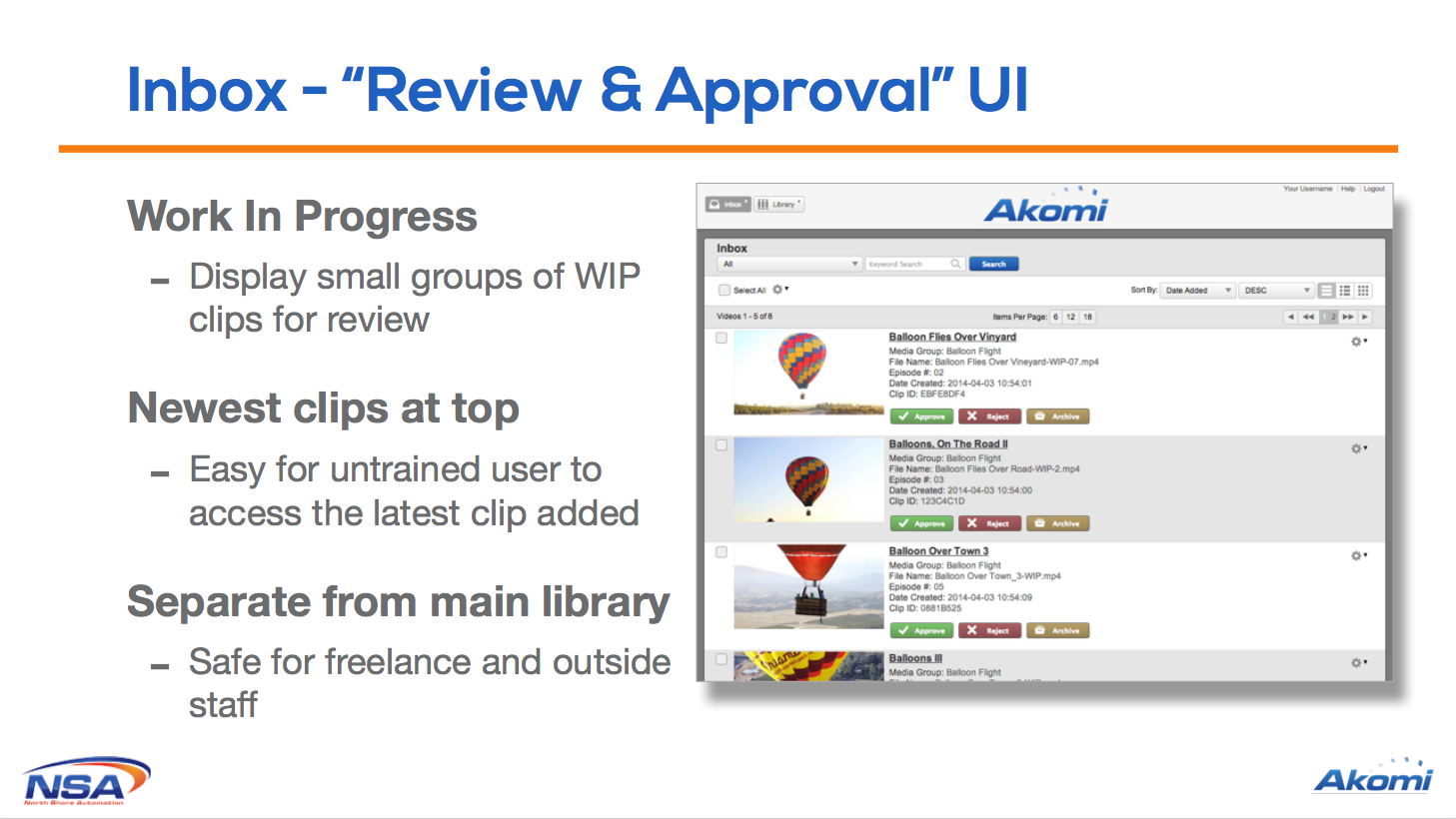 Review & Approve clips directly from the inbox