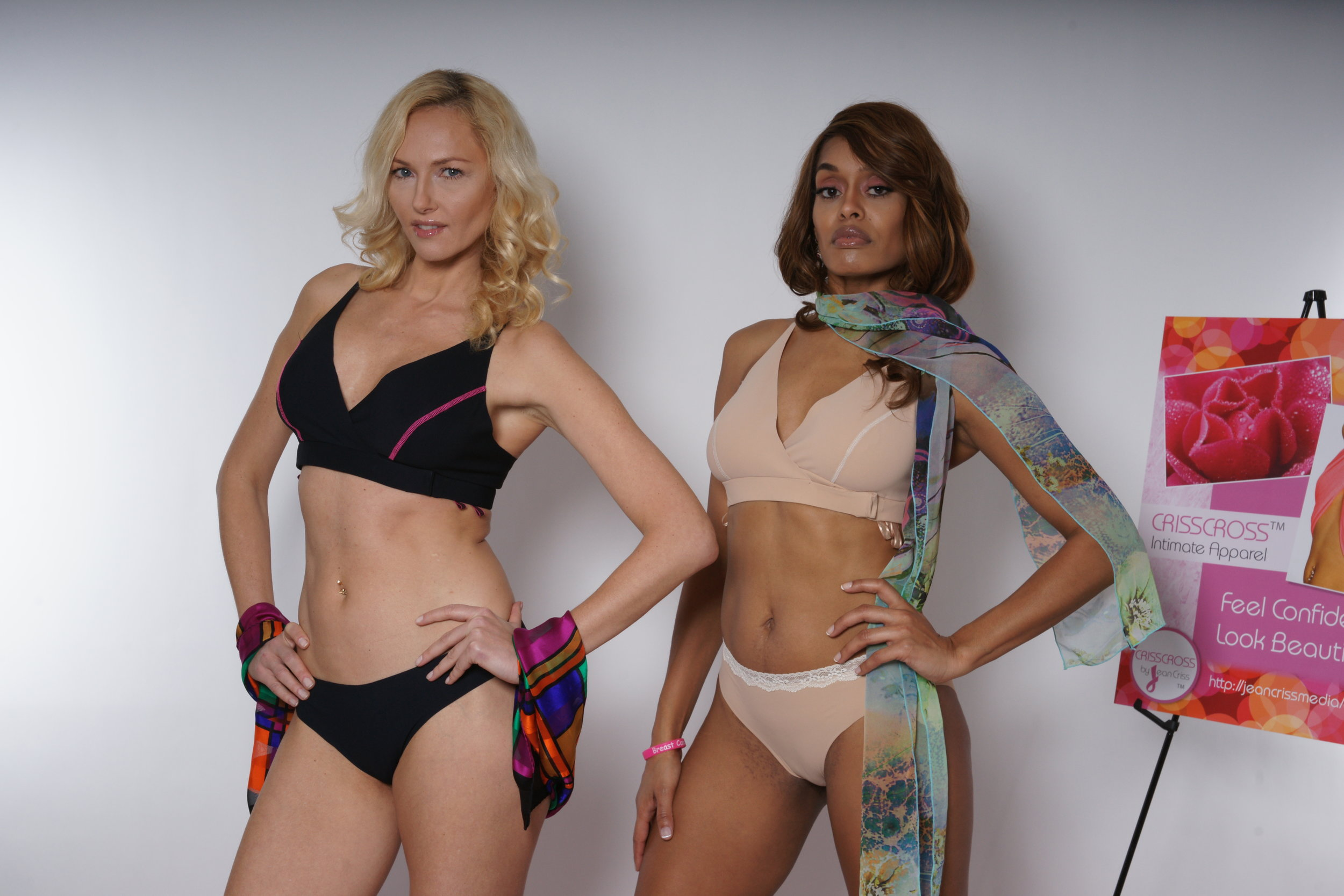 Mix and match your Violet Thong or Venus Brief Panties with your CRISSCROSS Bras!
