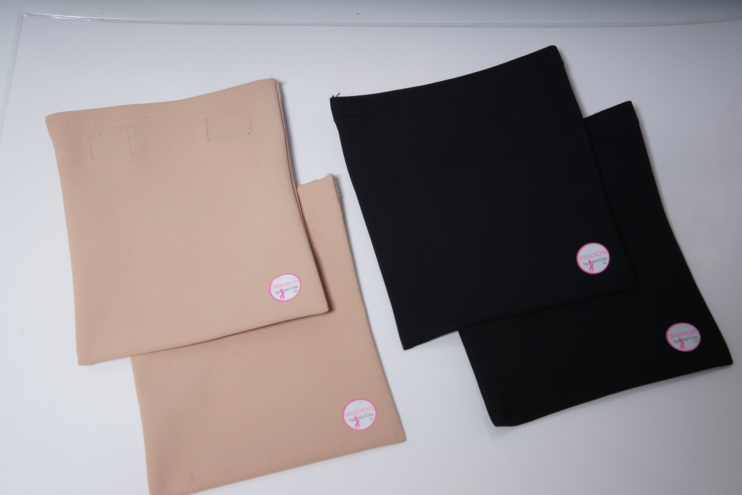 The CRISSCROSS Pouch - in Blush or Black
