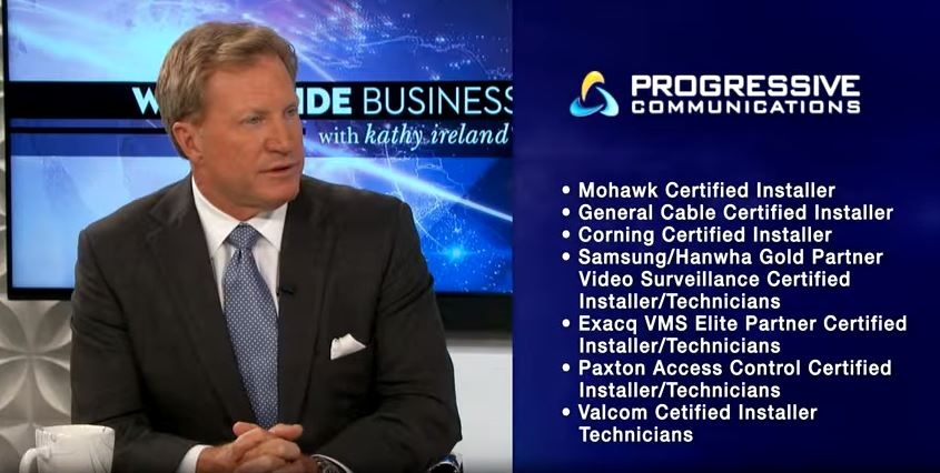 Award-certification accolades with featured client