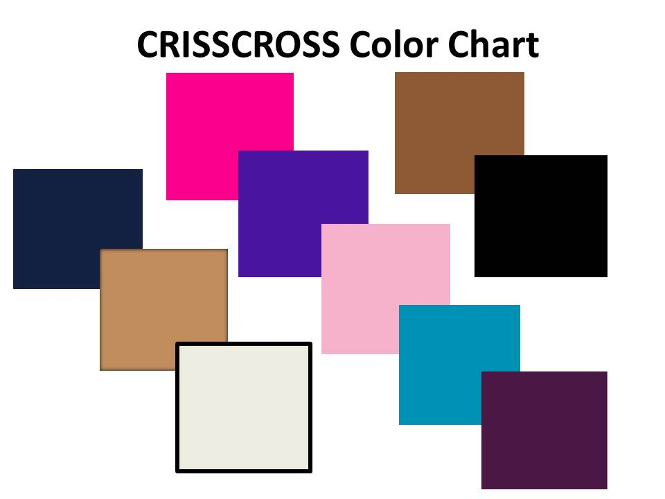 CRISSCROSS styles sold in a variety of beautiful bold colors! Shop today!