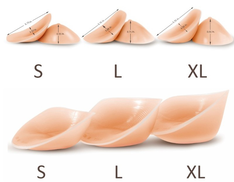 Enhancers with or without adhesive, no nipples