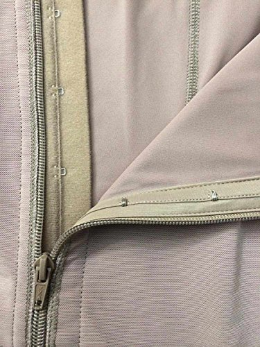 This shows soft compression fabric under trims providing padding at closure.