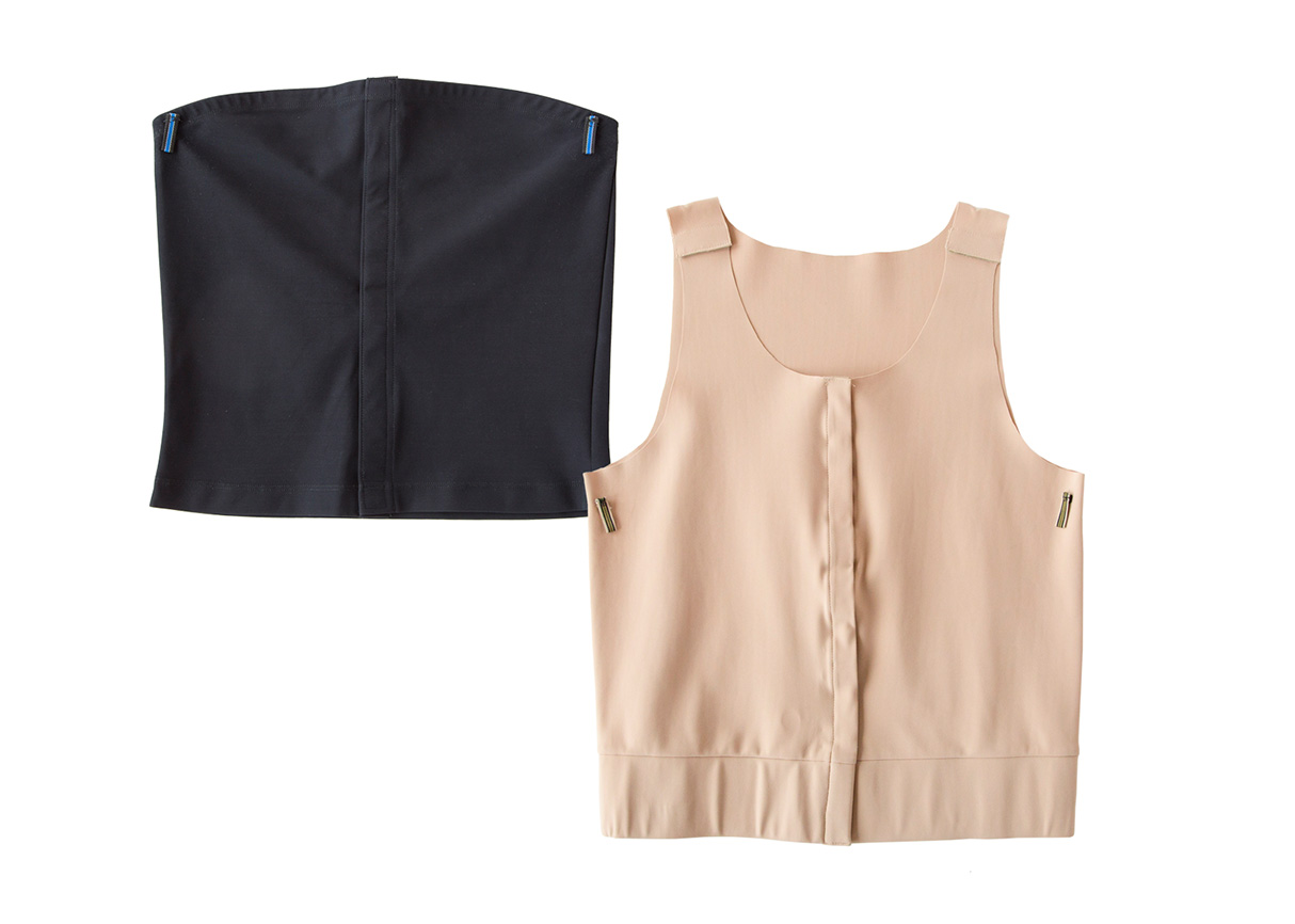 TODAY - Men's CRISSCROSS Intimates Vests offer high compression micro-fiber fabric, clean edges, hold medical drains with soft low-profile Velcro front closure. Learn more here https://crisscrossintimates.com/mens
