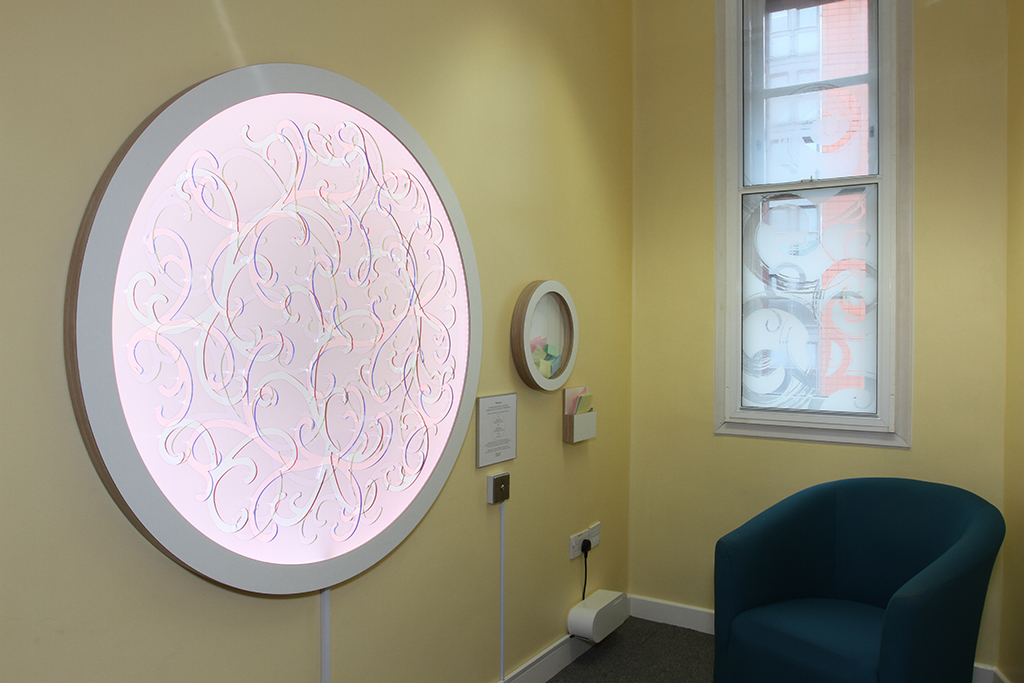 Phase Two - LED artwork in waiting room