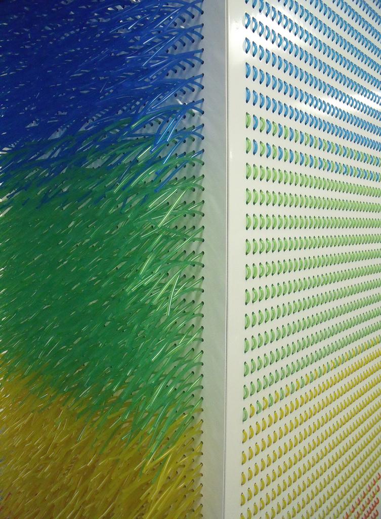Rainbow pillar detail