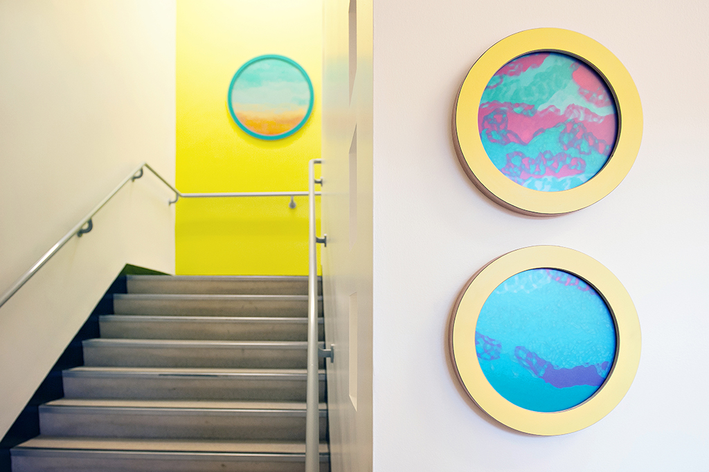 Stairwell Artwork, from ground floor to first floor