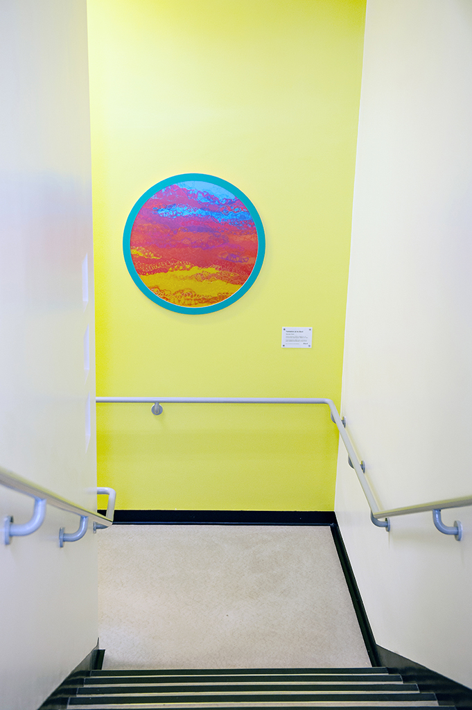 Stairwell Artwork, from first floor to ground floor