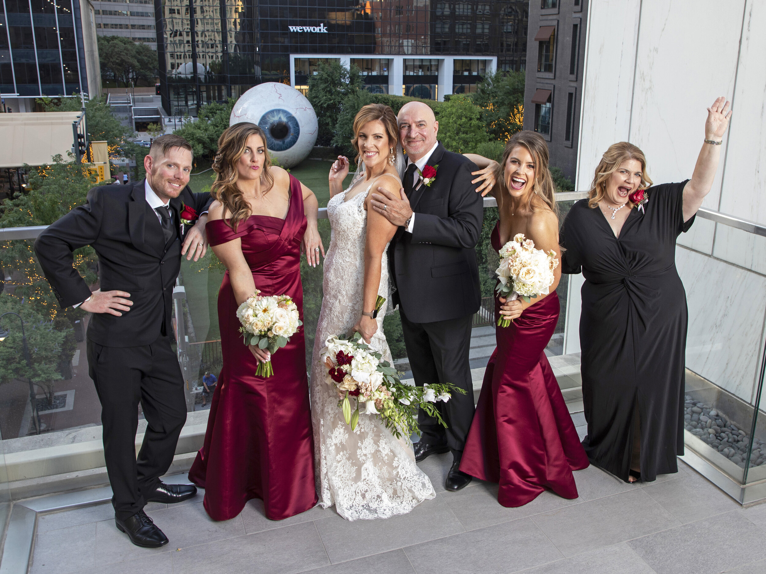 Christ and Terry got married at The Joule Hotel across the street from the Dallas Eye, great hotel!!