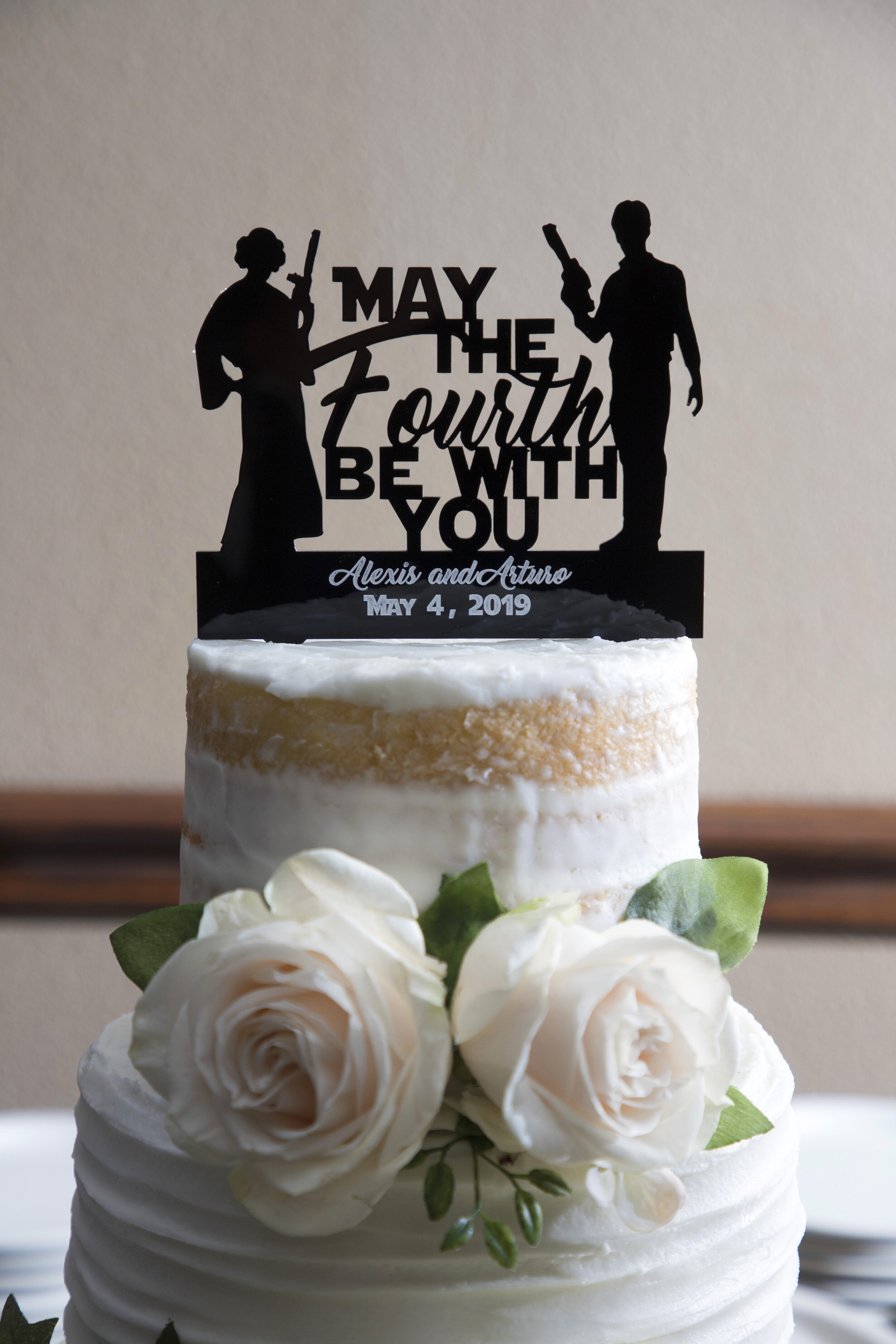 My May The 4th Be with You wedding of Alexis and Arturo was a lot of silly fun with a cool cake and a great outside venue in Fort Worth.