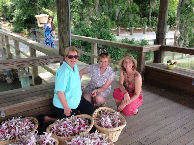 Jerri Andrea and Nancy on the dock.JPG