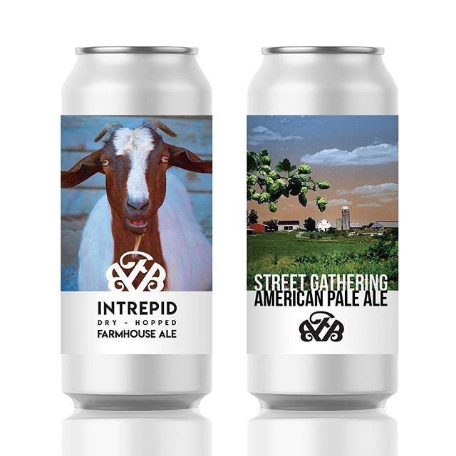 Designed these cans for @fallingbranchbeer and I'm seriously itching to get my hands on them. The beers taste good and they look pretty sexy too 😘 Cya September 30th at Maryland's coolest farm brewery. Thanks to the Galbreath bros for hooking me up with my dream gig! 🍻🐐