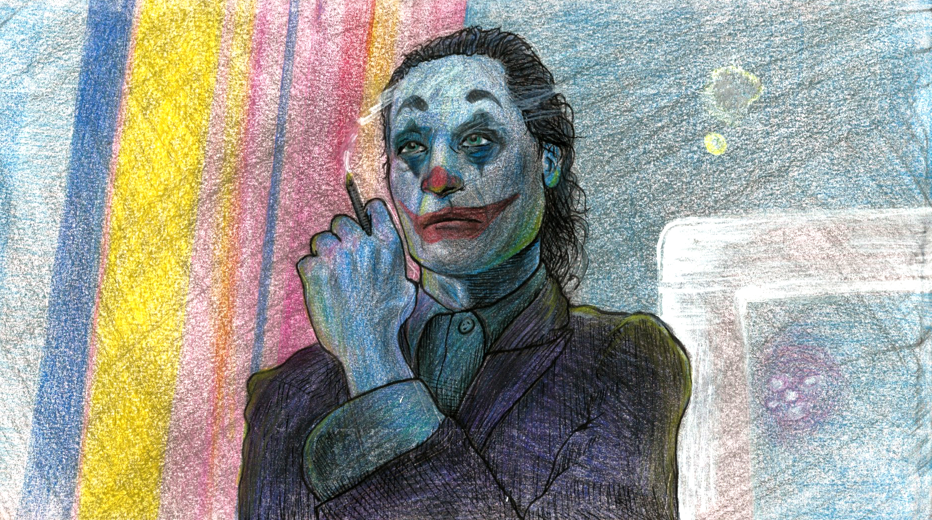 """""""Joker"""" - 2019 (colored pencil and pen)"""