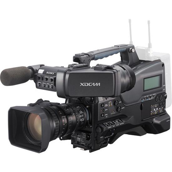 PXW - X320 XDCAM - Cámaras de estudio, aunque también portatiles equipadas con monitor, zoom y foco externo.