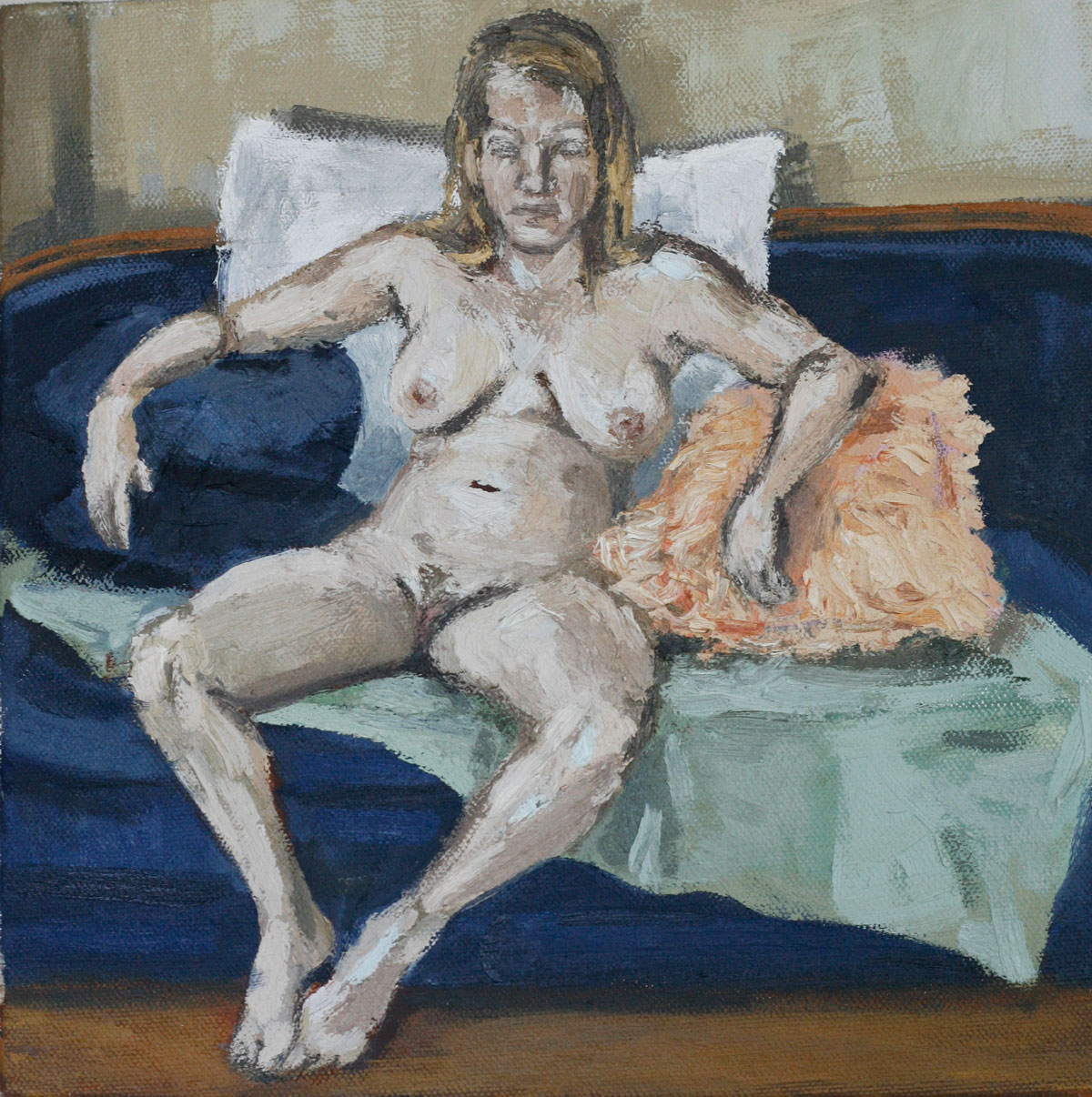 Nude with Pillows