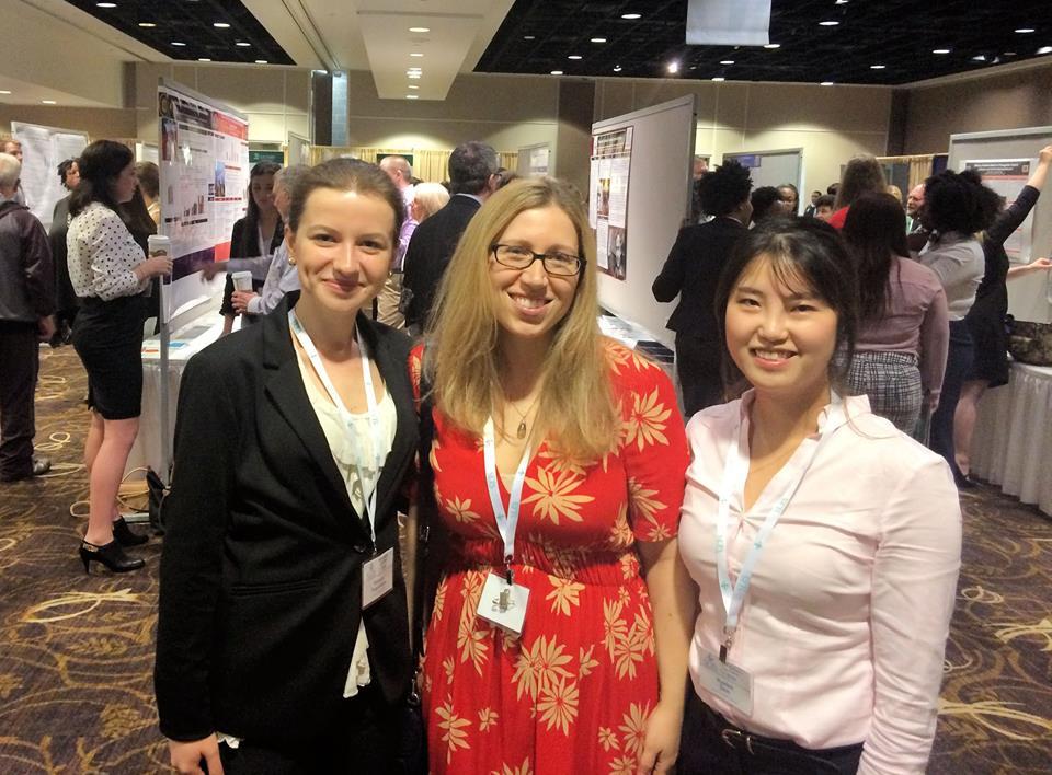 (Left to right) Lera Tsygankova, Janet Boseovski, and Hyelim Shin at the Southeastern Psychological Association Convention