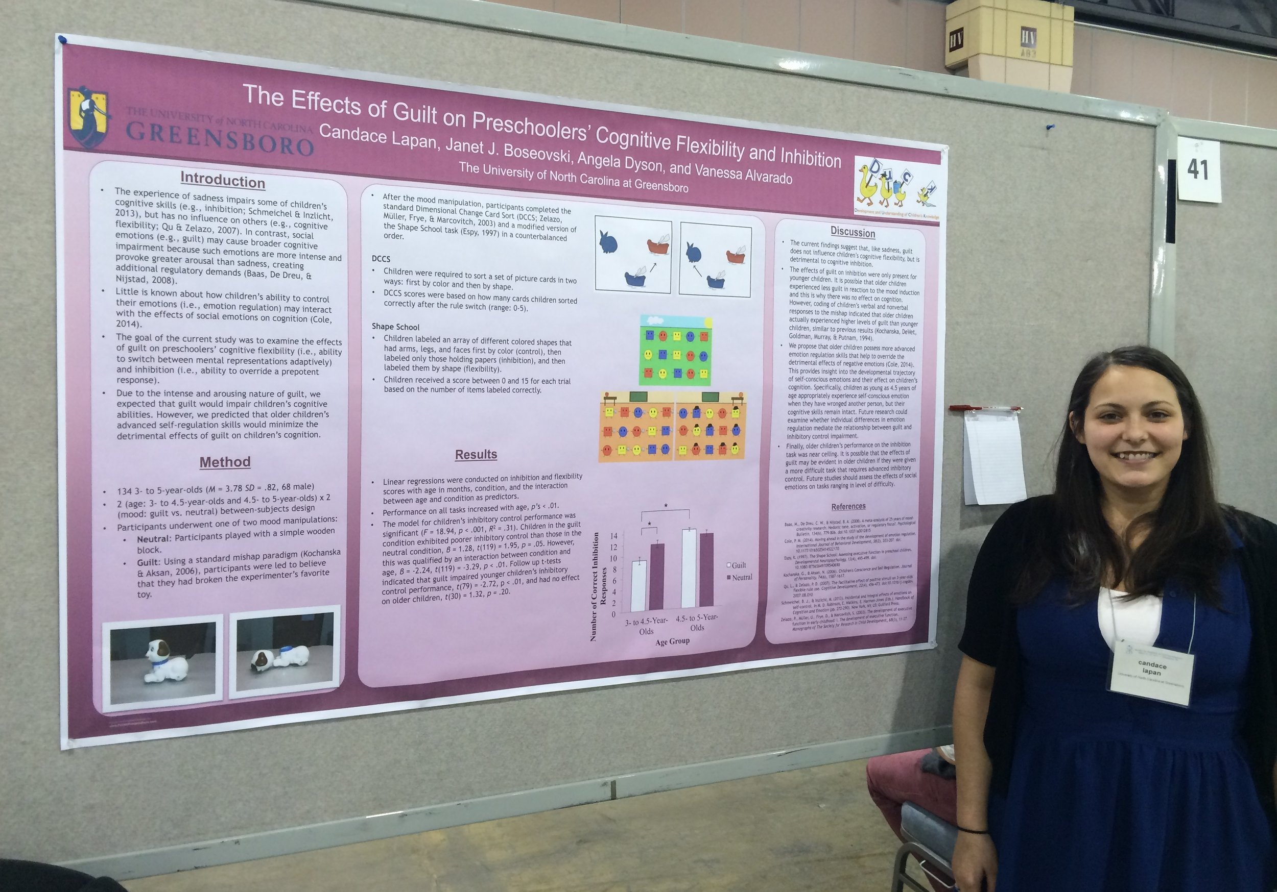 Candy Lapan presents a project examining the impact of guilt on children's cognitive performance