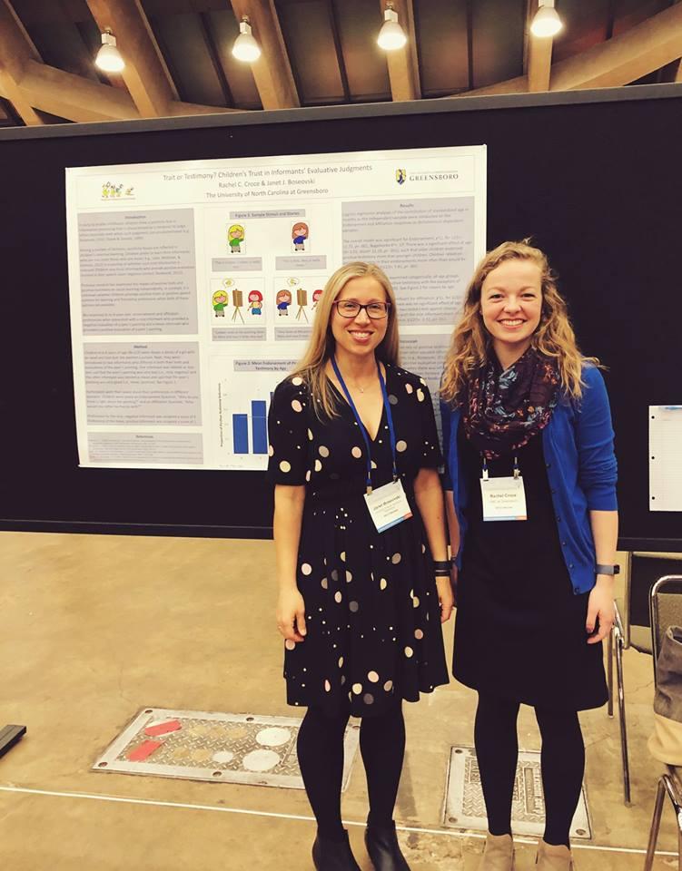 Dr. Janet Boseovski & graduate student Rachel Croce