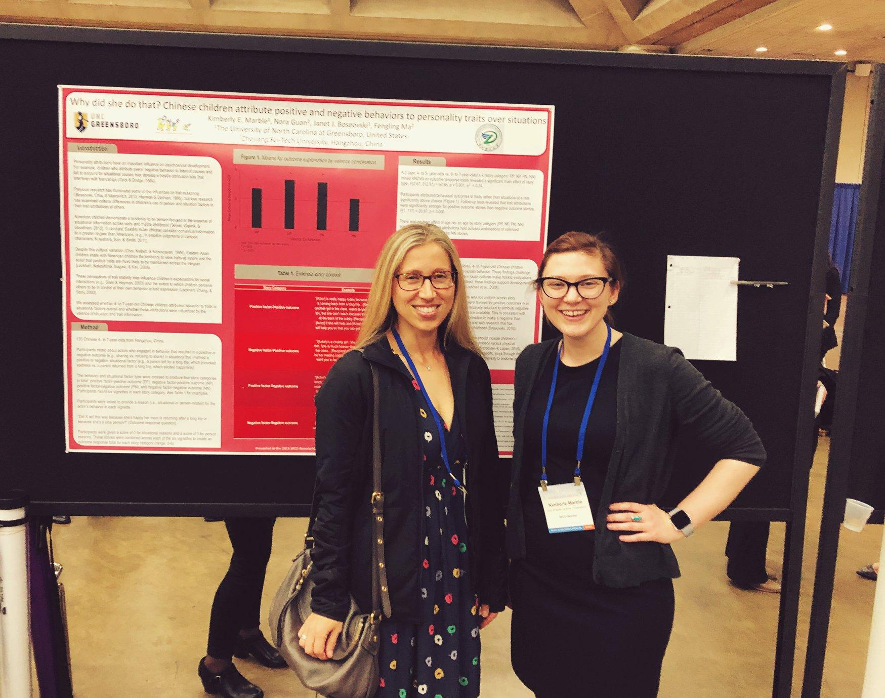 Dr. Janet Boseovski & graduate student Kimmy Marble