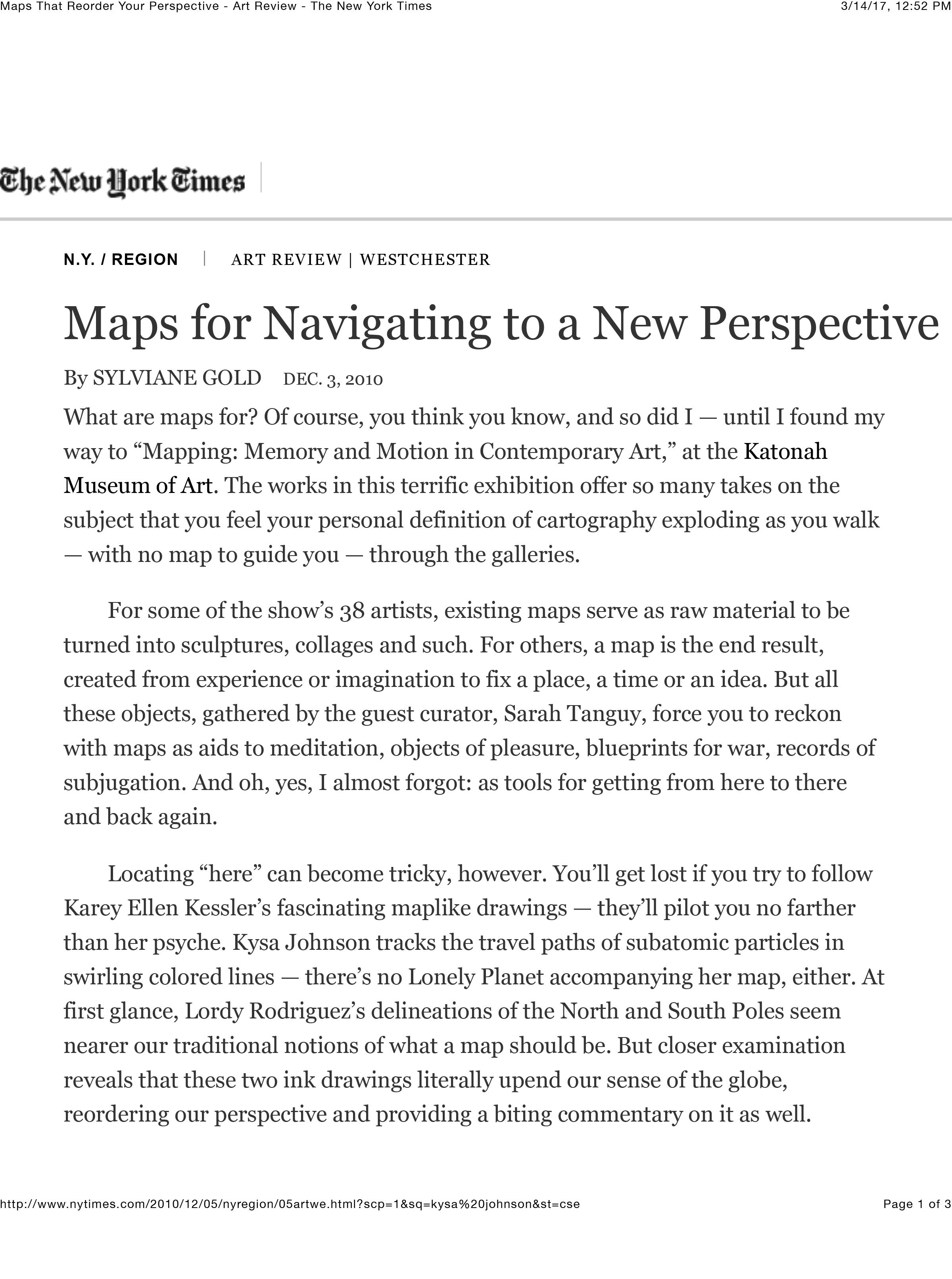 New York Times - Maps Katonah Musuem