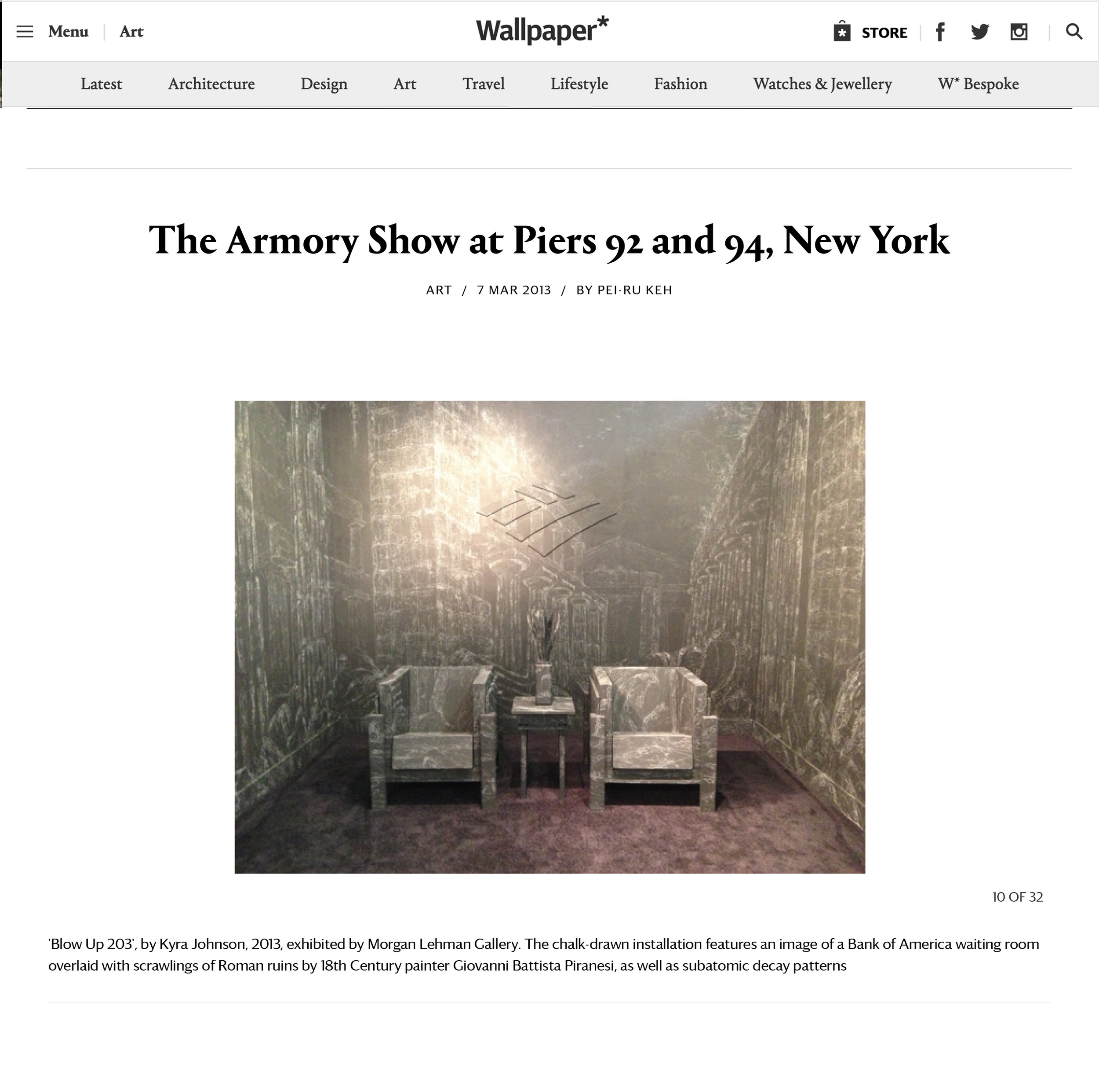 Wallpaper Magazine Best of the Armory Show