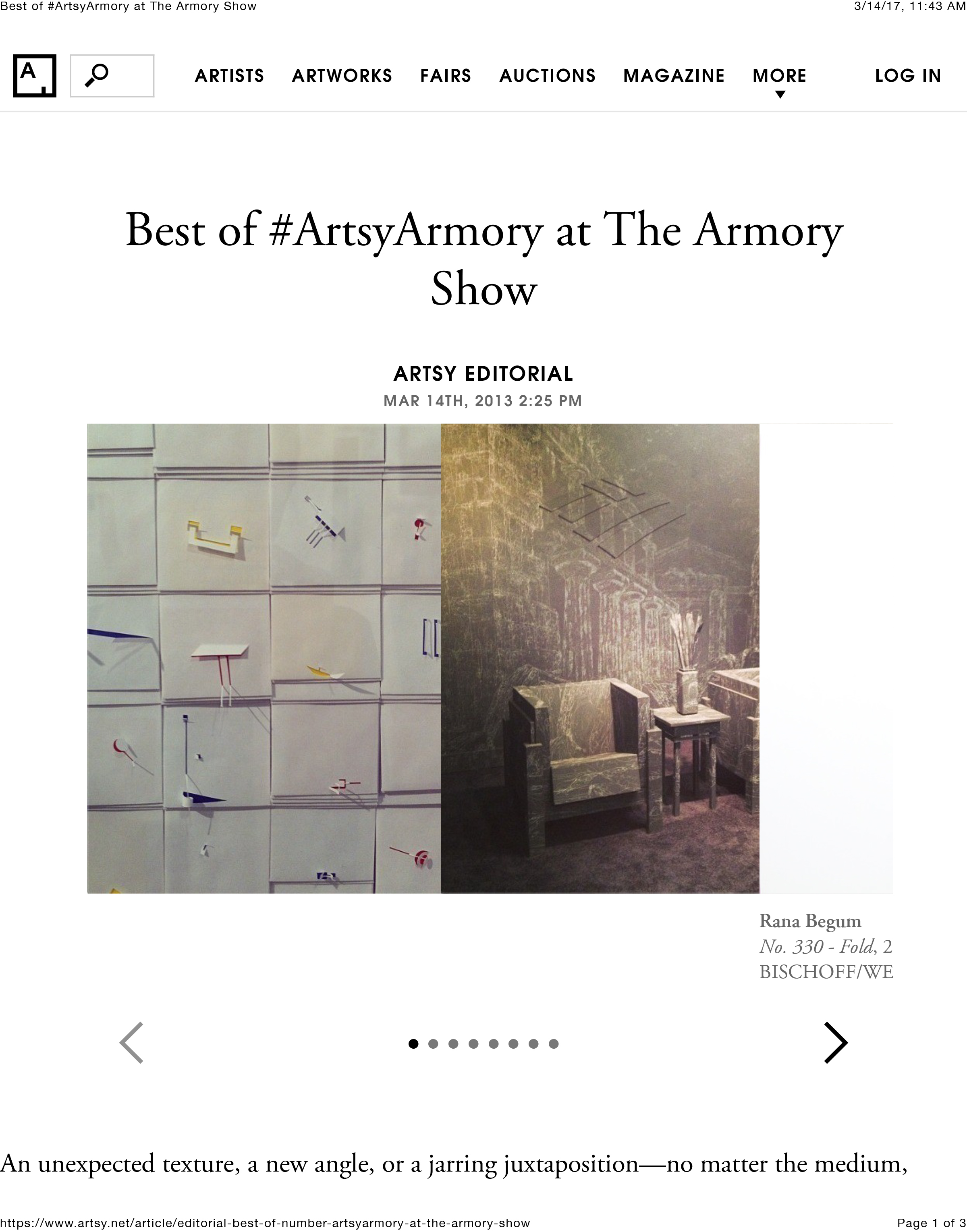Artsy Best of the Armory Show