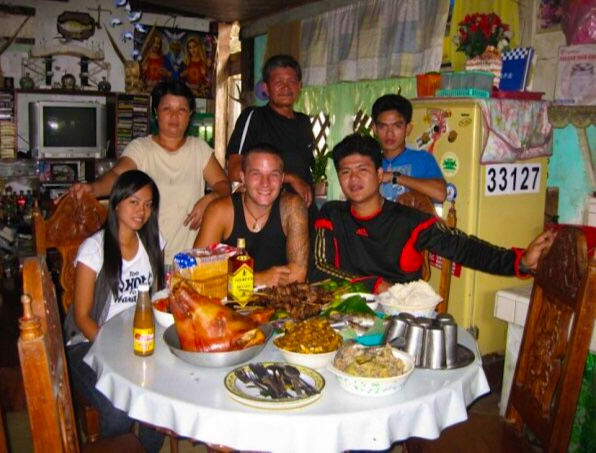 Celebrating my birthday with my Filipino family on Polilio Island (2009)