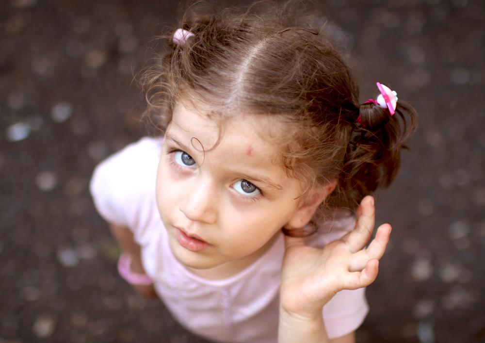 Syrian baby girl refugee portrait