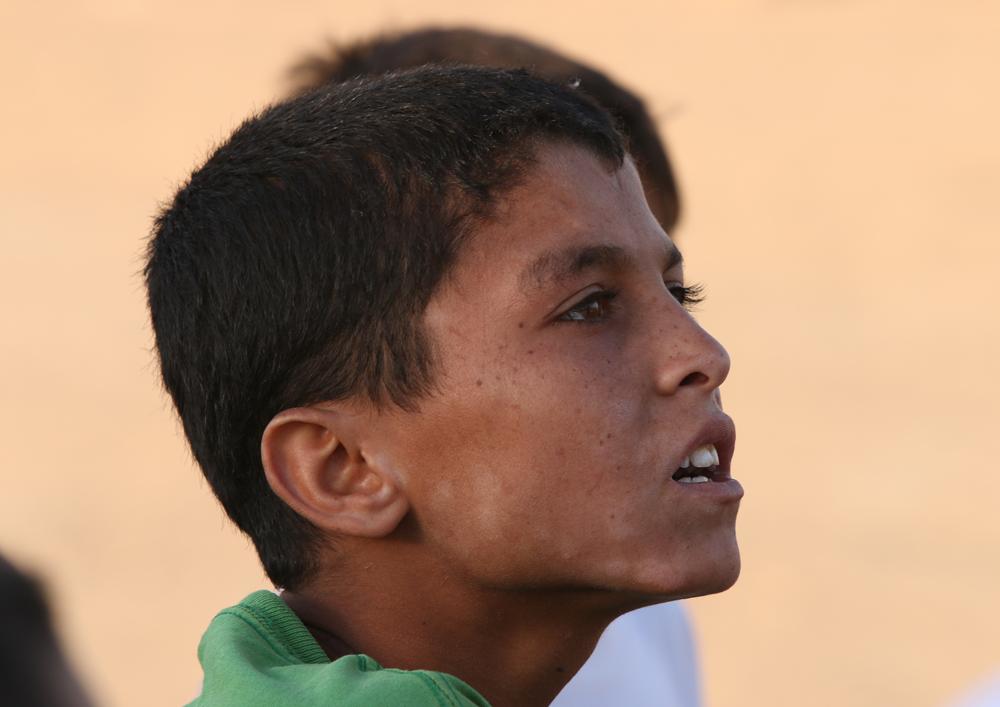 Syrian adolescent refugee portrait