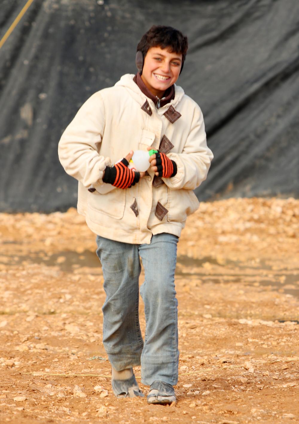 Syrian refugee teen portrait
