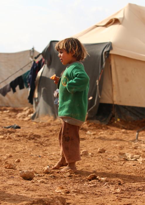 syrian child in refugee camp
