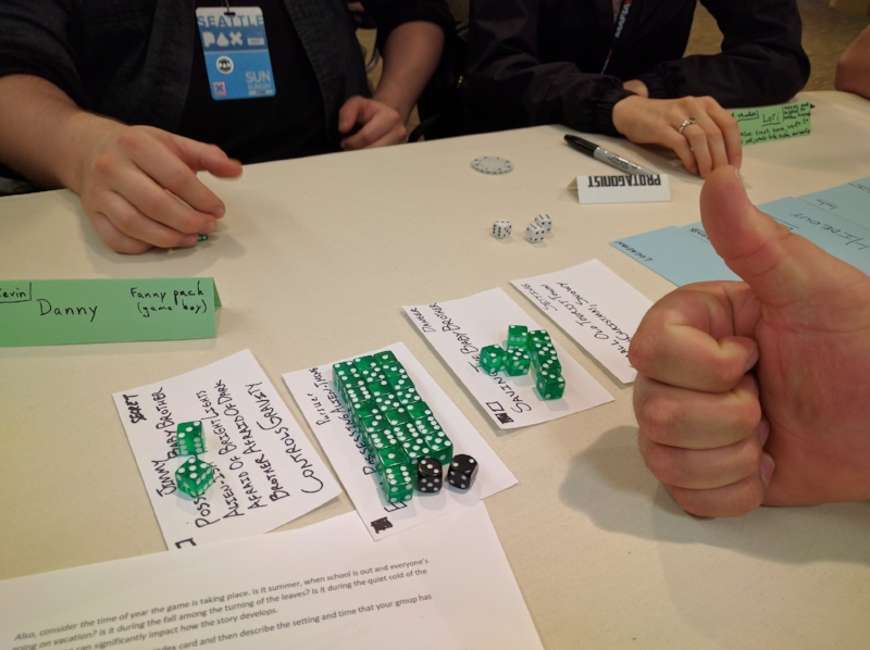 There were so many dice on the Pursuer that we needed to pull out extra dice! That's... probably not a good sign.