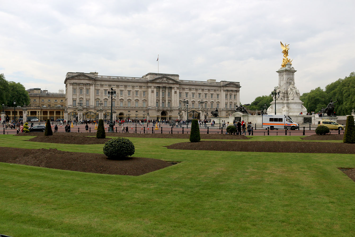 Buckingham Palace, London. One of the many residences of the Queen.