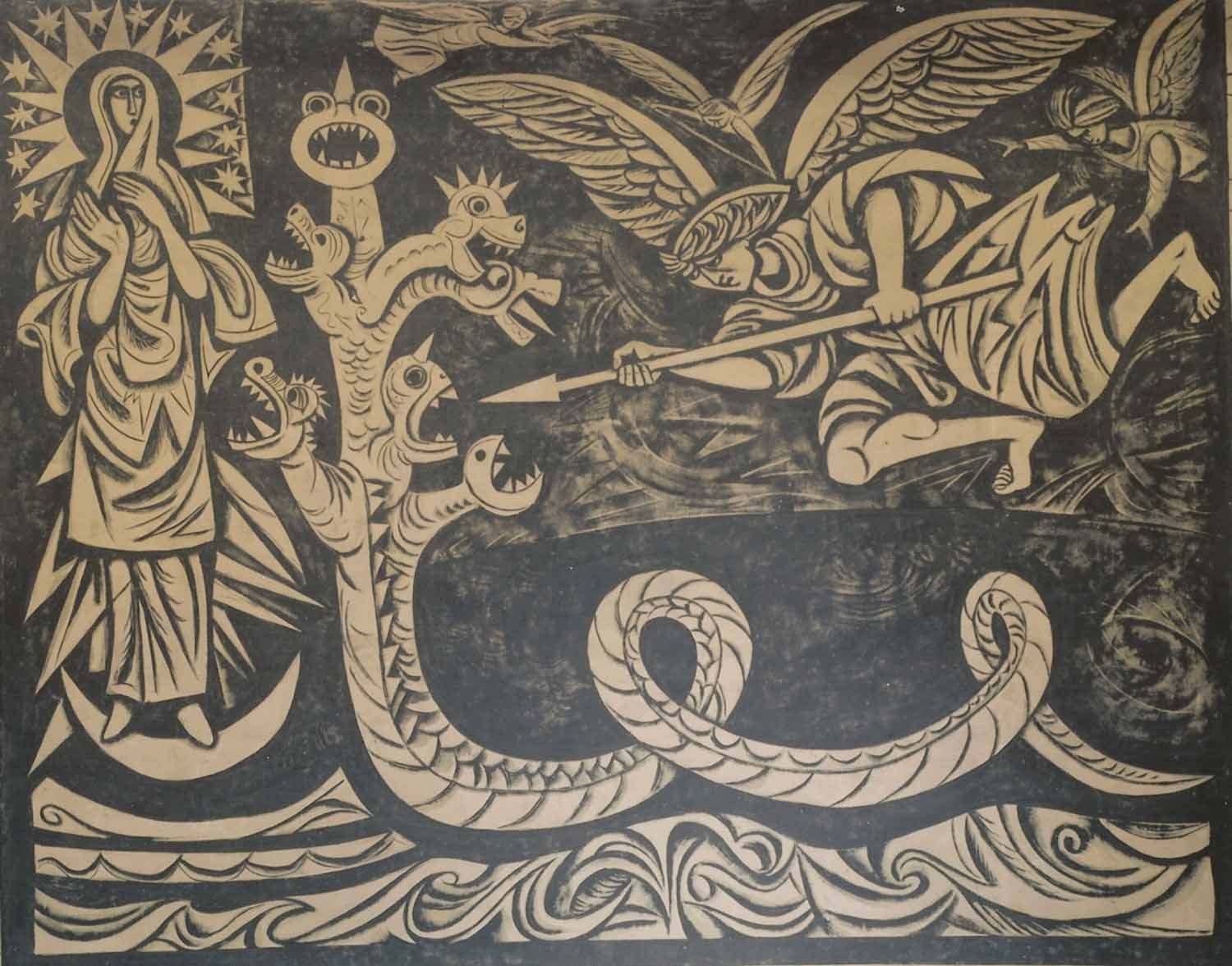 From a series of murals on Revelation by Adam Kossowski.