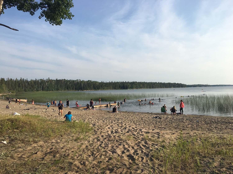 Sand Bay near Cross Lake, Manitoba