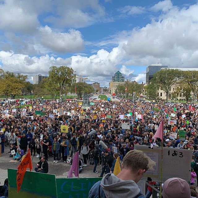 Today, millions of people gathered around the world to call for climate action. Thousands gathered in Winnipeg and it was amazing to be a part of it. #climatestrike #climateaction #winnipeg