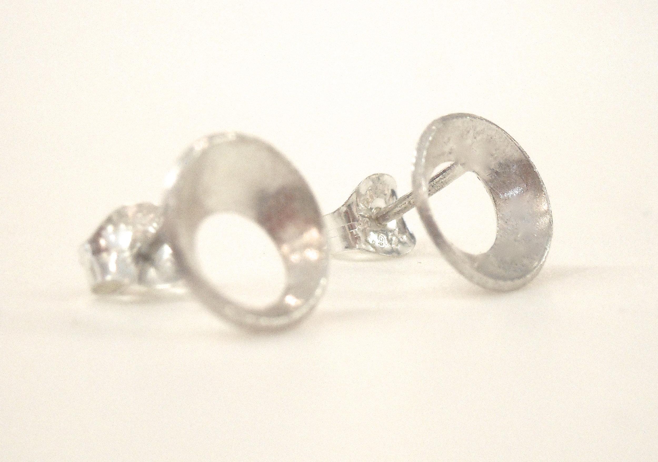 Sterling silver earrings.