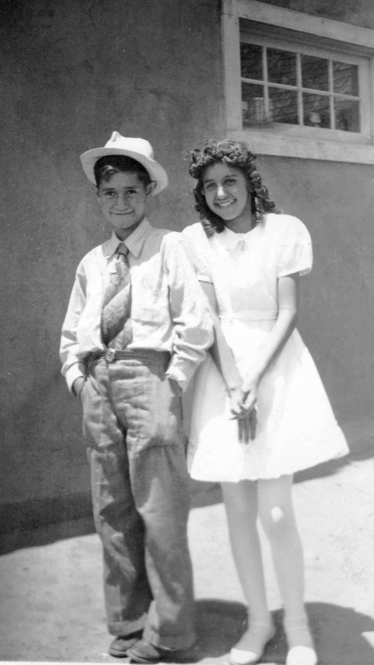 Mari-Luci Jaramillo with her brother in Las Vegas, New Mexico.