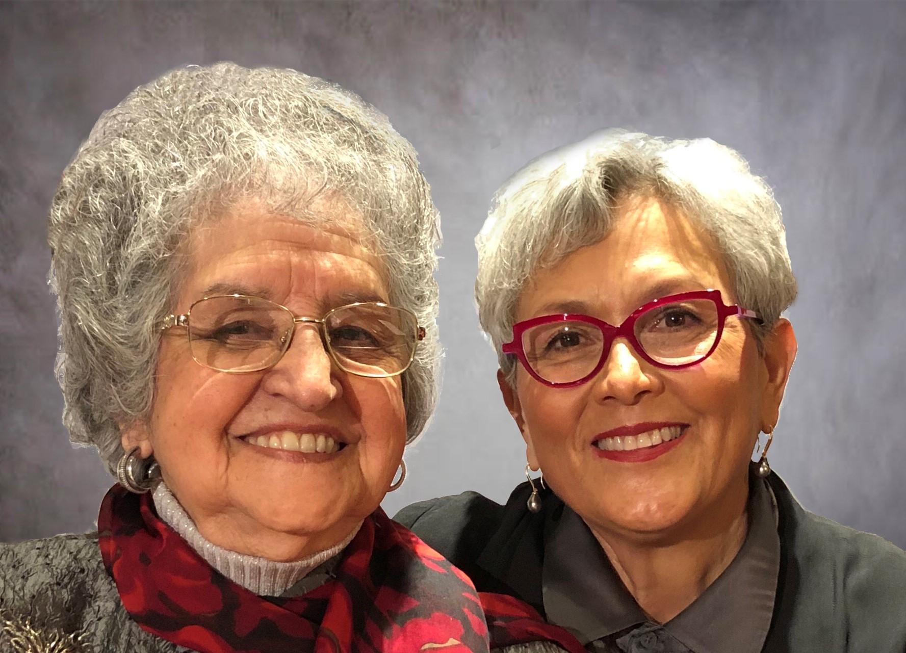 Mari-Luci Jaramillo with Cecilia J. Navarrete in California, March 2019.