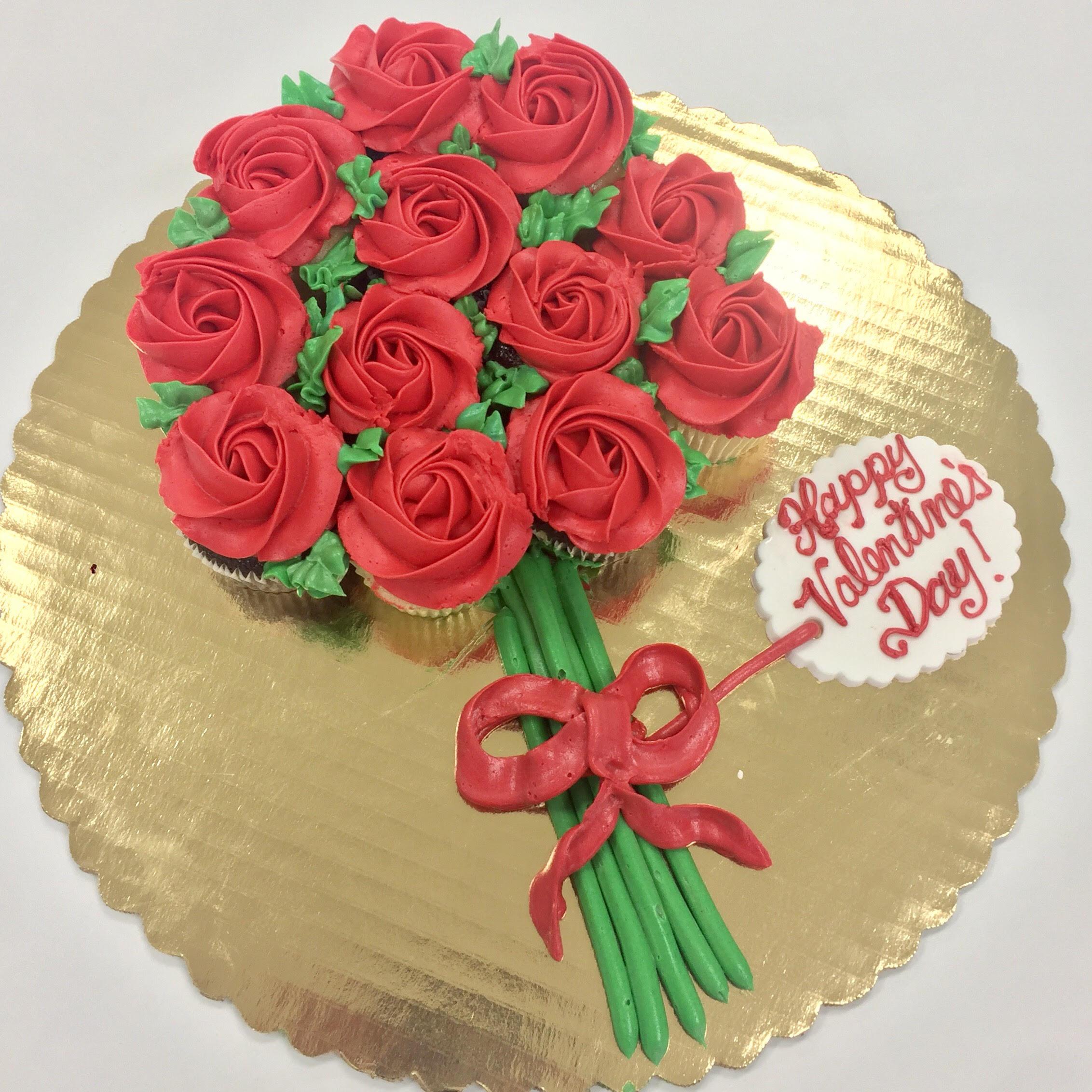 Dozen Roses Mini Cupcake Bouquet