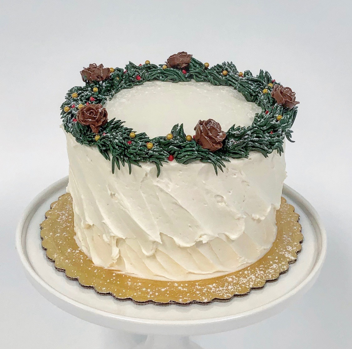 Pinecone Wreath Cake