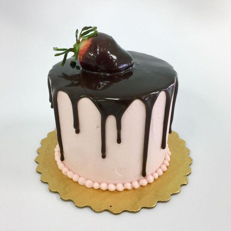Chocolate Covered Strawberry Drip Cake