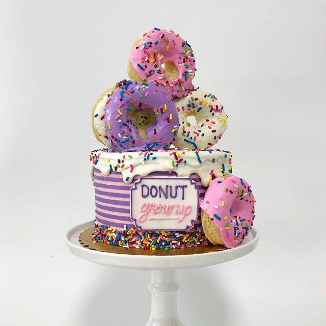 Is it weird that I want this cake for my 34th birthday? 🍩 please donut say yes 😂