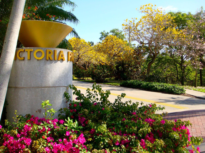 Victoria Park Sign in Fort Lauderdale Florida