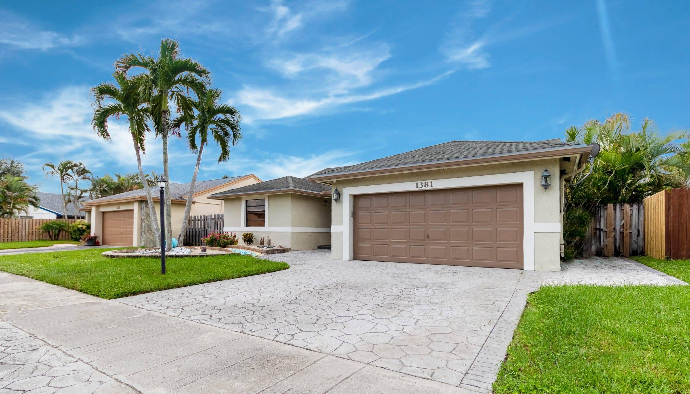 SOLD $395,000 - 1381 SW 151 Avenue, Sunrise FL 33326