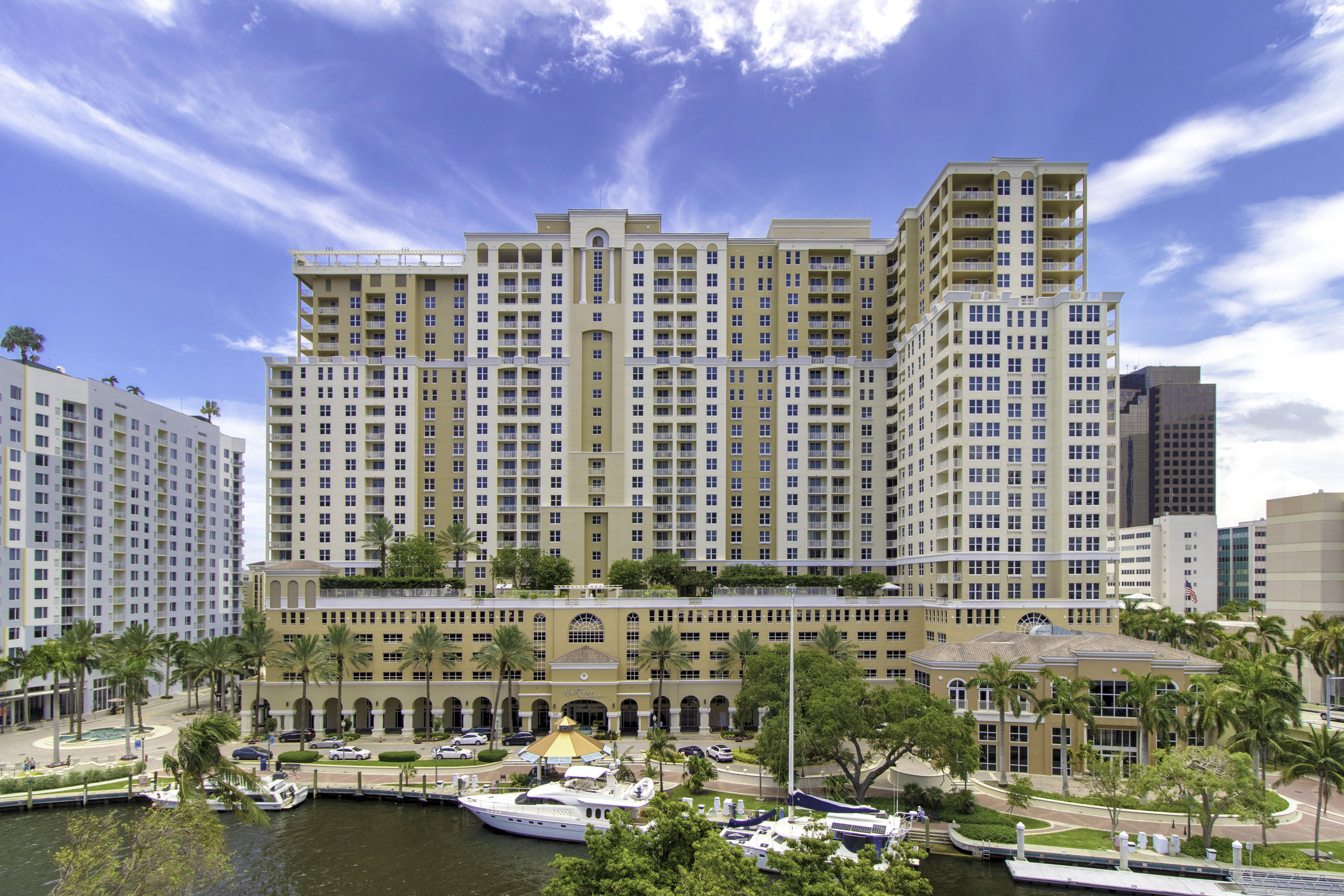 Nu River Landing situated directly on the river at 511 SE 5th Avenue, Fort Lauderdale, Florida, 33301
