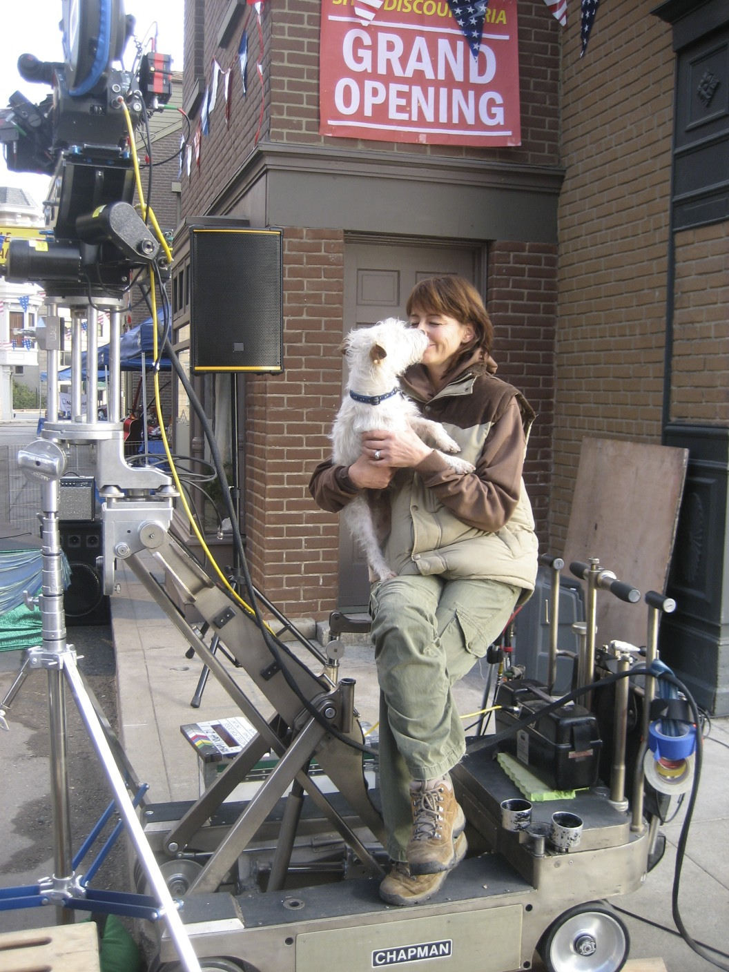 """On the set of """"Hotel for Dogs"""""""