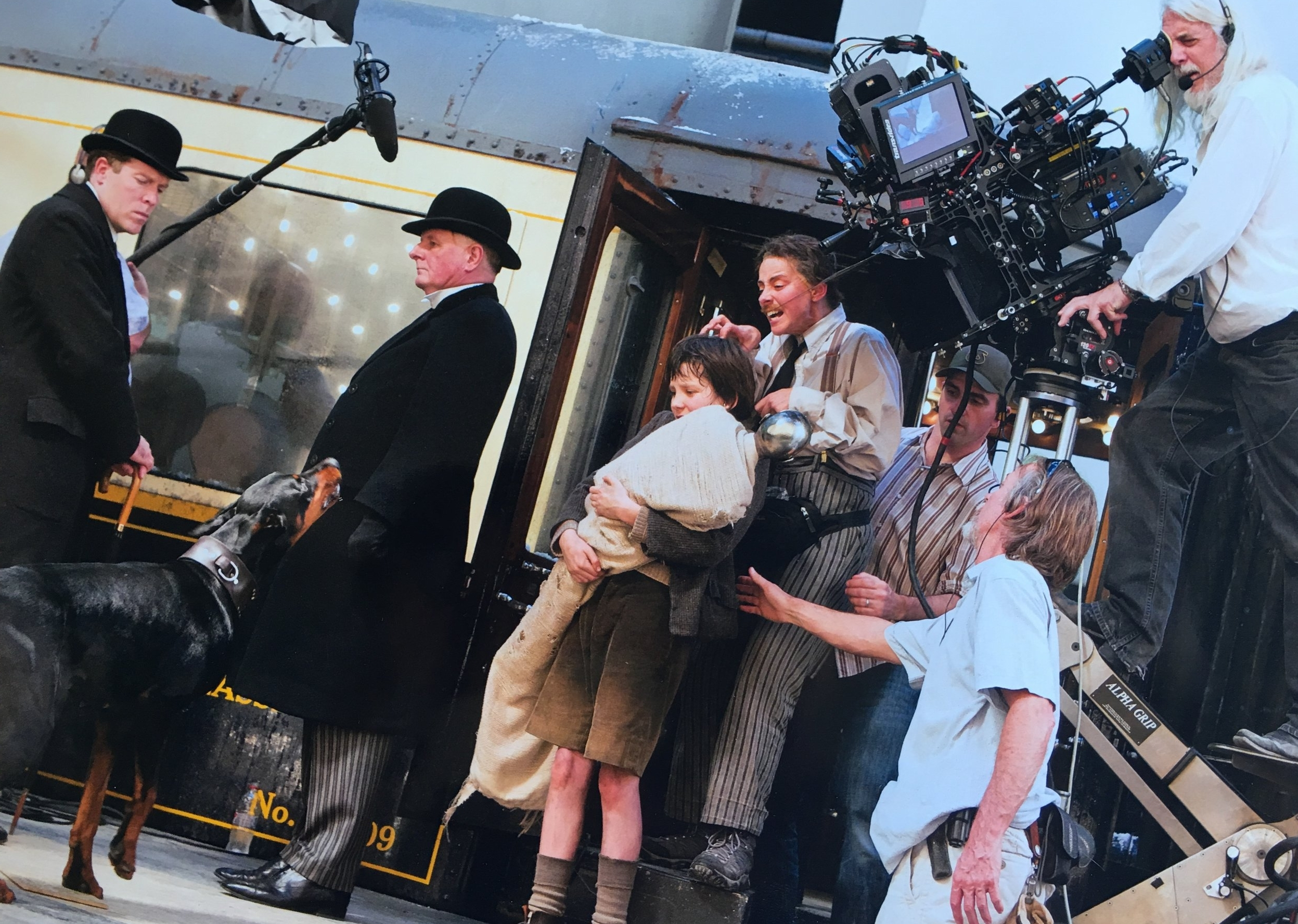 "On the set of ""Hugo"""