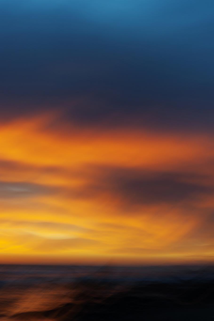 Fire in the sky. Hendry's Beach, Santa Barbara, CA.