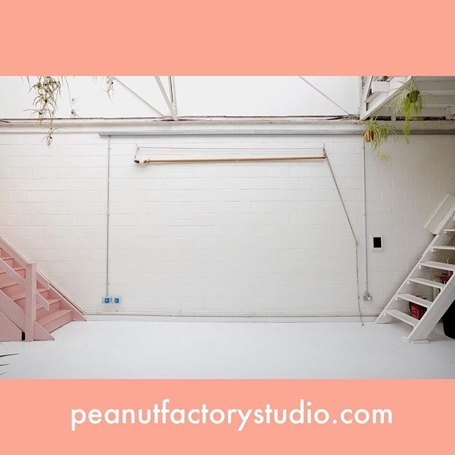Daylight Photographic Studio for hire in East London.  Get in touch for rates and availability info@peanutfactorystudio.com